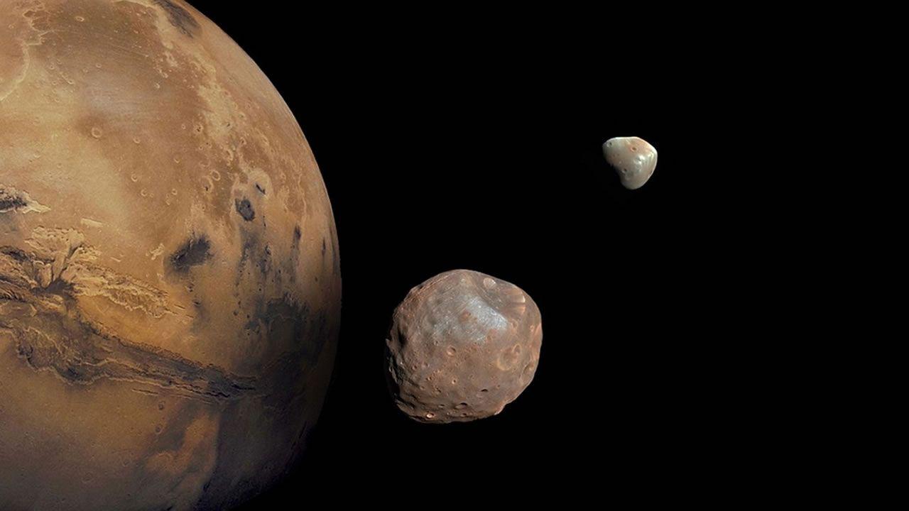 Misteriosas lunas de Marte fueron creadas por una violenta colisión, sugiere científico