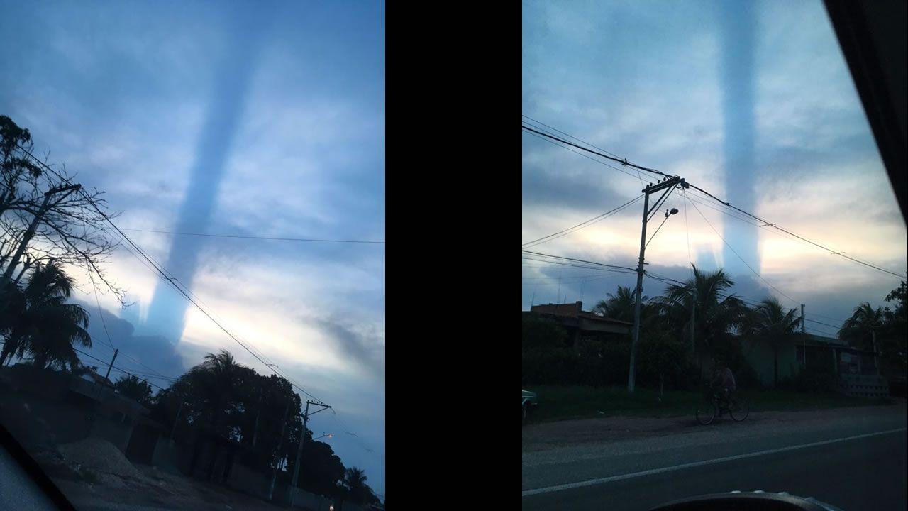 Misterioso fenómeno se presenta en cielo de Río de Janeiro en Brasil