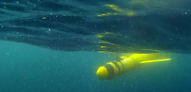 Robots submarinos, como este, permitieron enviar datos de grandes profundidades, revelando la gigantesca zona muerta existente en el Golfo de Omán