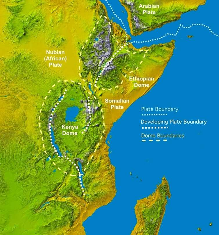 Topografía del Valle del Rift