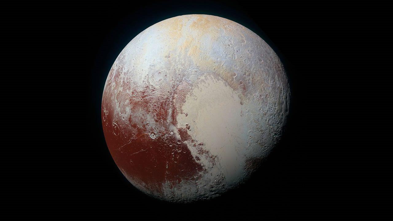 Hallan dunas de metano sólidas en la principal cordillera de Plutón