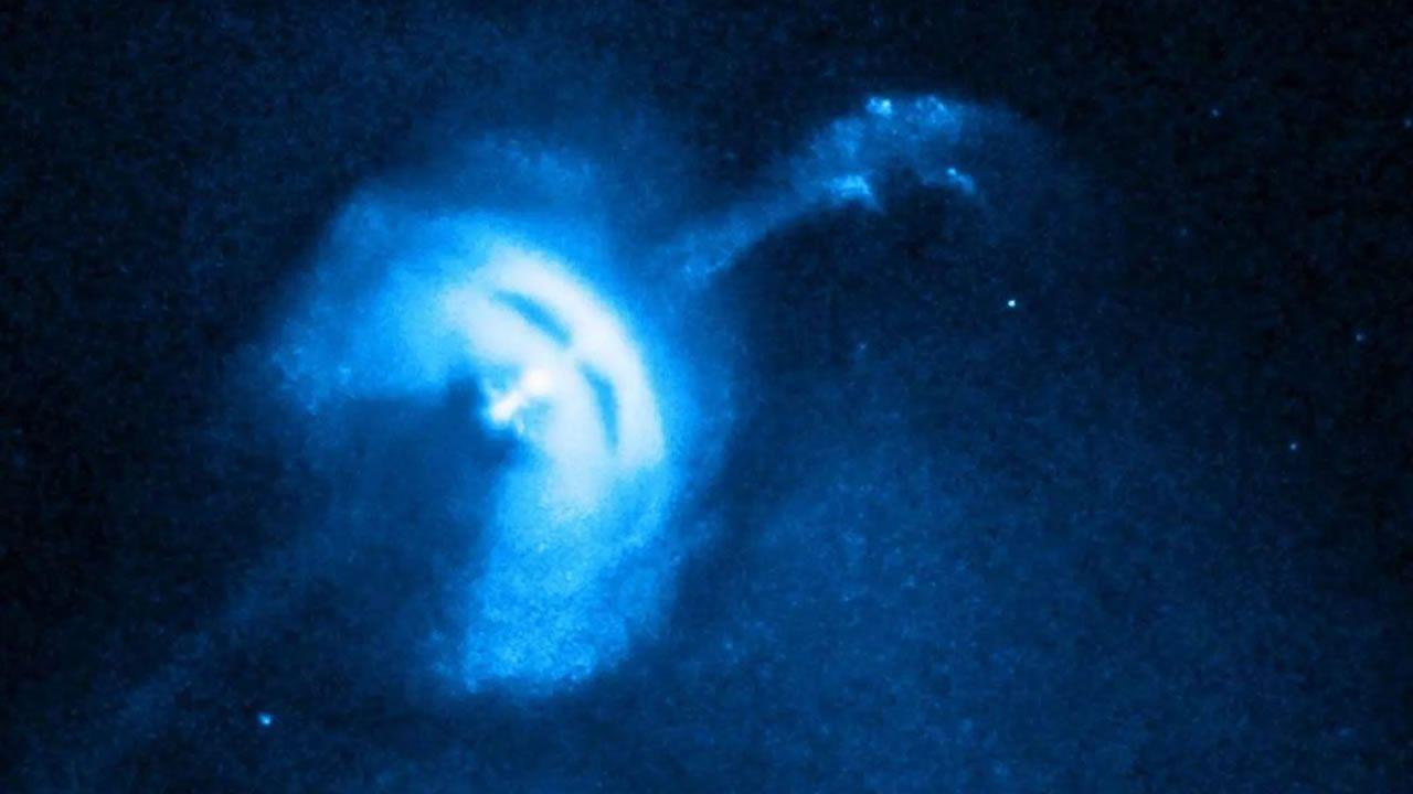Las estrellas de neutrones producen chorros de partículas como las que se muestran en la imagen