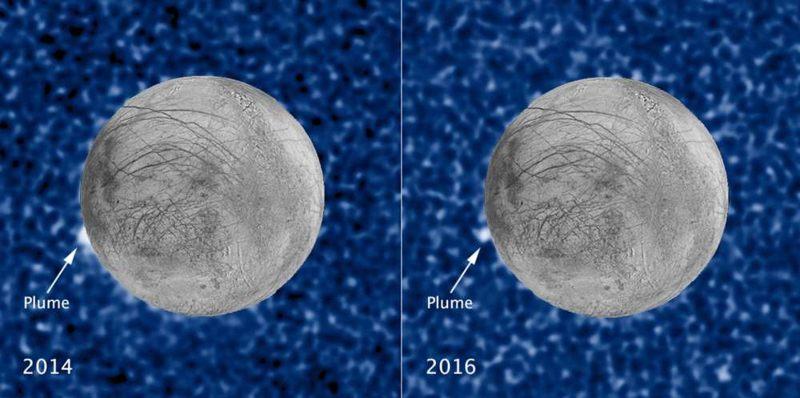 Hubble ha encontrado previamente evidencia de penachos