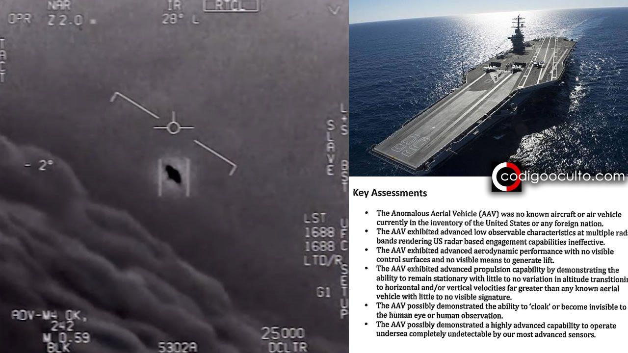 OVNI asedió un portaaviones de EE.UU. durante varios días, según informe filtrado del Pentágono