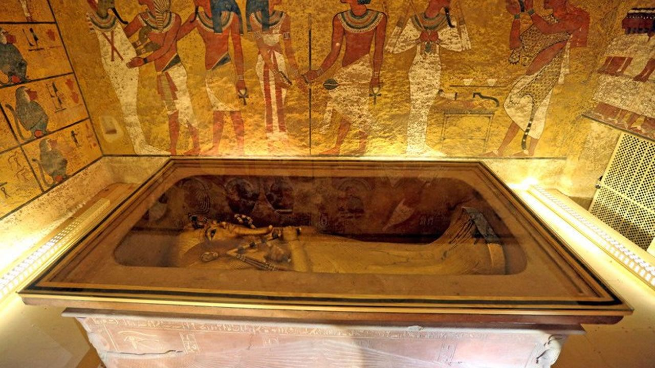 Revelan inesperado resultado en búsqueda de cámaras secretas en tumba de Tutankamón