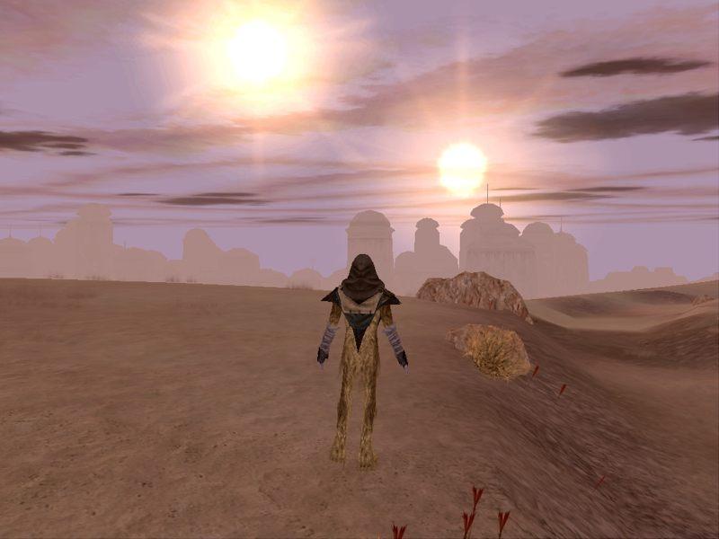 Representación artística de un planeta alienígena con dos soles. Los investigadores han concluido que sería posible que un planeta en dichas condiciones pueda sustentar la vida.