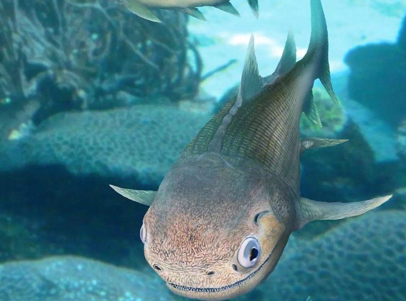 Representación artística del Ligulalepis, uno de los primeros peces óseos conocidos