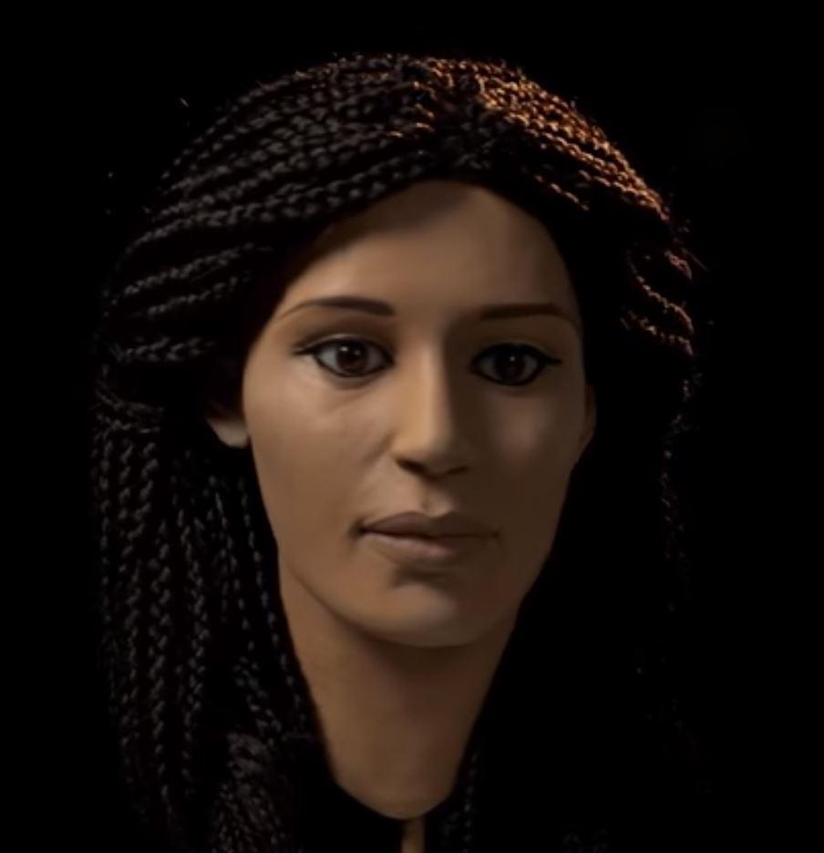 Ella es Meritamun, una mujer egipcia de hace 2.000 años