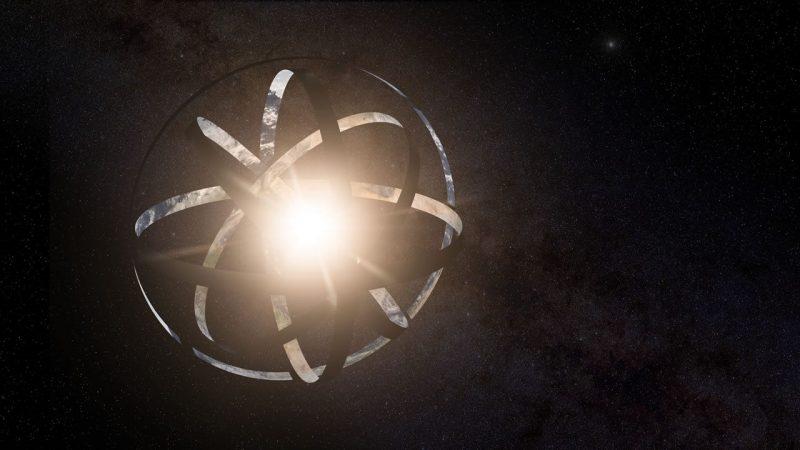 Concepto de una esfera de Dyson