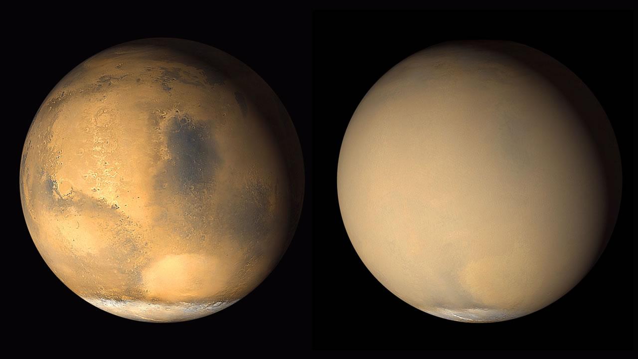 Colosal tormenta de polvo silencia al rover Opportunity en Marte. NASA dará hoy un anuncio