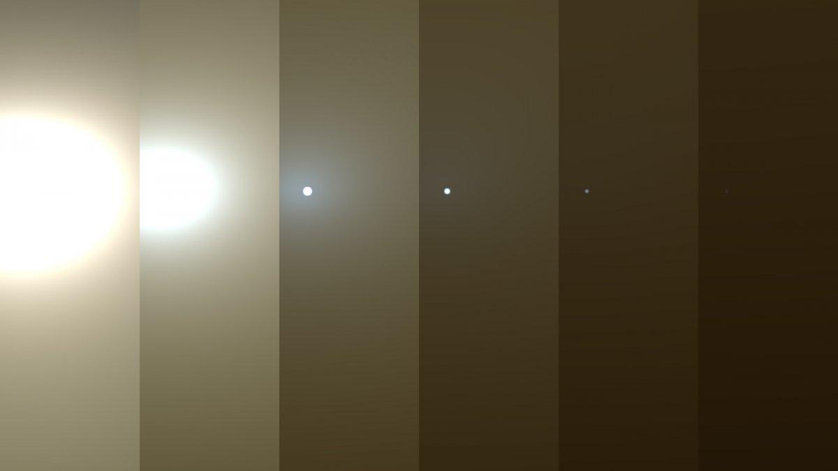 Esto es lo que logró ver el rover Opportunity a medida que la tormenta tapaba el Sol por completo