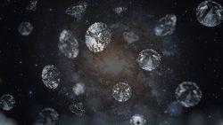 Nanodiamantes podrían transmitir misteriosas señales a través de nuestra galaxia