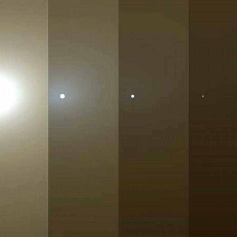 La tormenta de polvo en Marte fue tapando gradualmente el Sol. Imagen tomada por Opportunity antes de que quede inactivo.