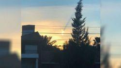 Un destello y potente estruendo sorprenden a pobladores de Neuquén en Argentina
