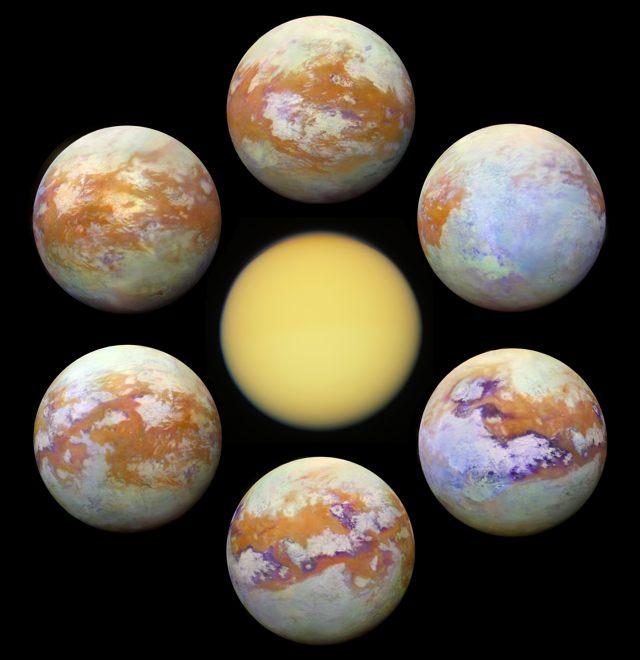Imágenes de Titán, luna de Saturno