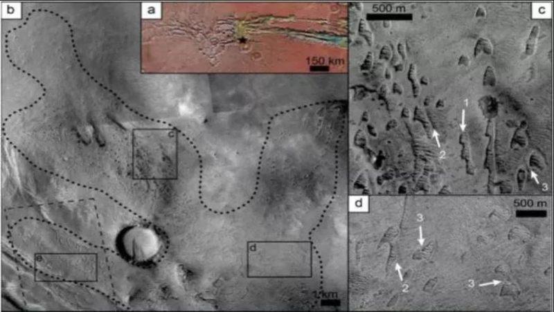 Dunas fantasmas en Noctis Labyrinthus