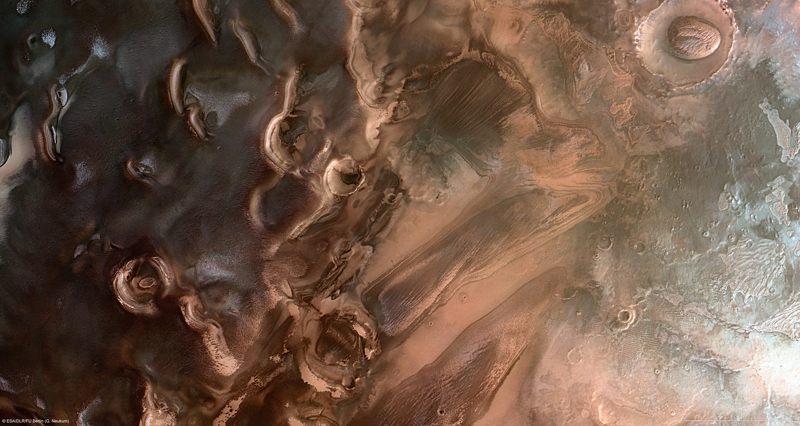 Imagen del polo sur de Marte
