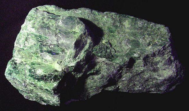Fragmento de roca extraída del manto terrestre.