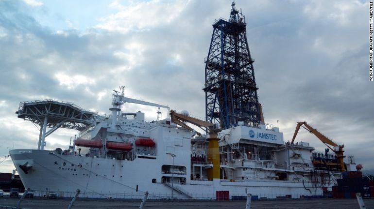 El Chikyu es uno de los buques de perforación más potentes y avanzados del mundo.