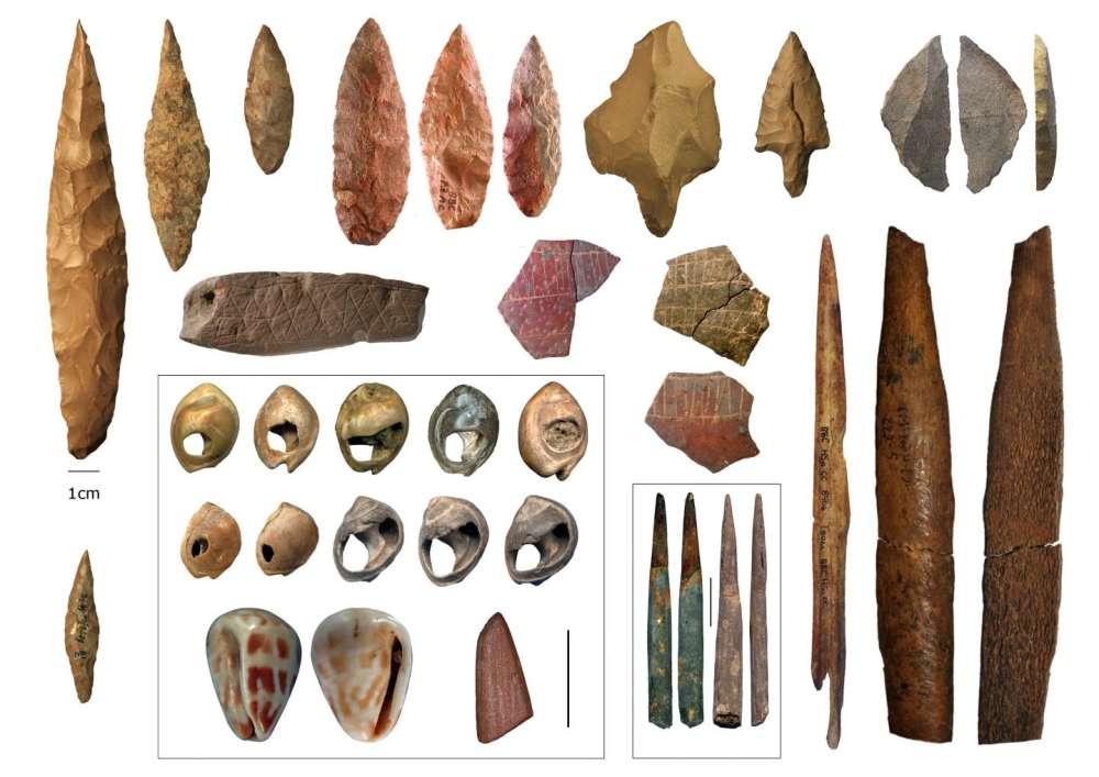 Artefactos culturales de la Edad de Piedra Media, del norte y sur de África
