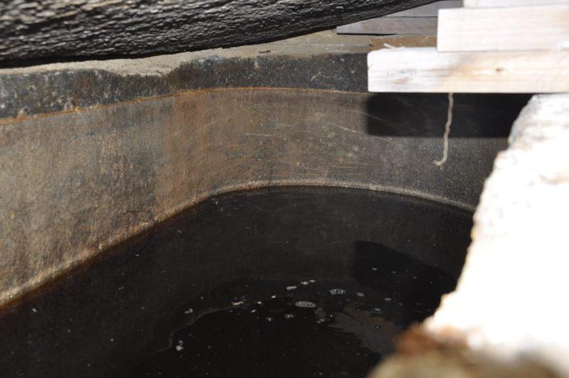 Interior del sarcófago hallado en Alejandría