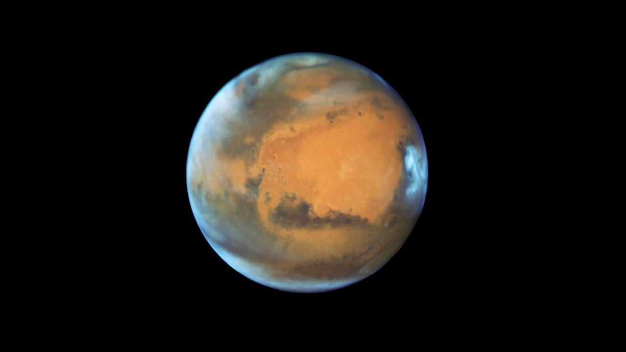 Una avalancha de hielo altera la superficie del planeta Marte