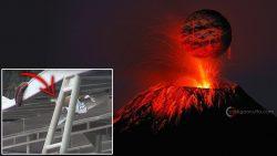 Una bomba de lava impacta en un bote turístico en Hawaii