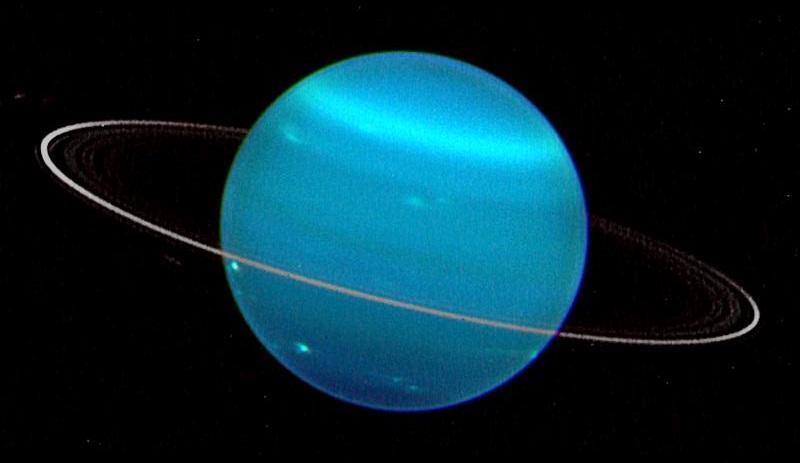 Urano visto mediante el telescopio Keck