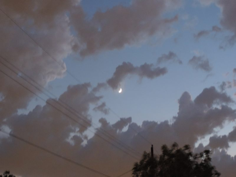 El fotógrafo obtuvo otra imagen de la Luna, luego de que el objeto desapareció.