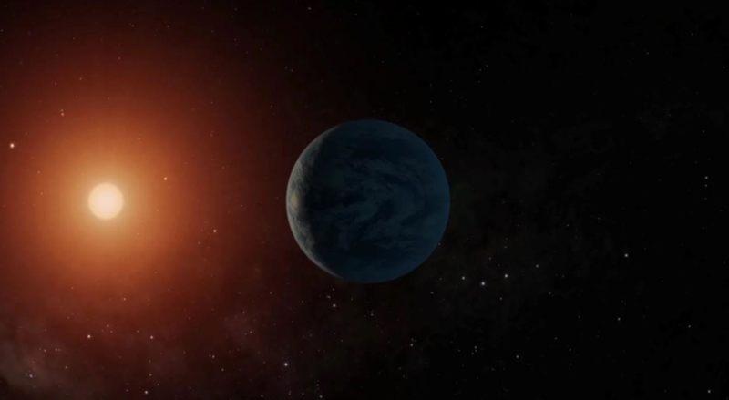Representación artística de un exoplaneta similar a la Tierra