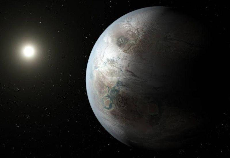 Representación artística del planeta Kepler-452b. Los planetas podrían tener condiciones de luz y temperatura similares a las que pudieron haber existido cuando la vida surgió por primera vez en la Tierra