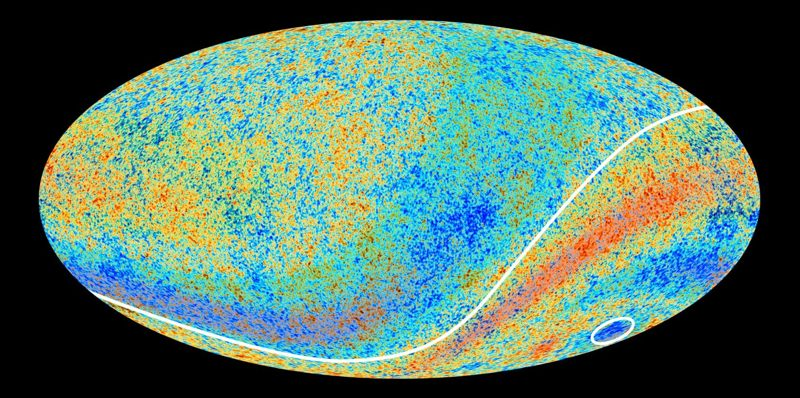Una imagen del fondo cósmico de microondas.