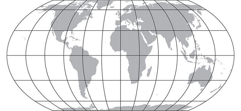 La proyección del mapa Equal Earth es una nueva proyección pseudocilíndrica de igual área para los mapas mundiales.