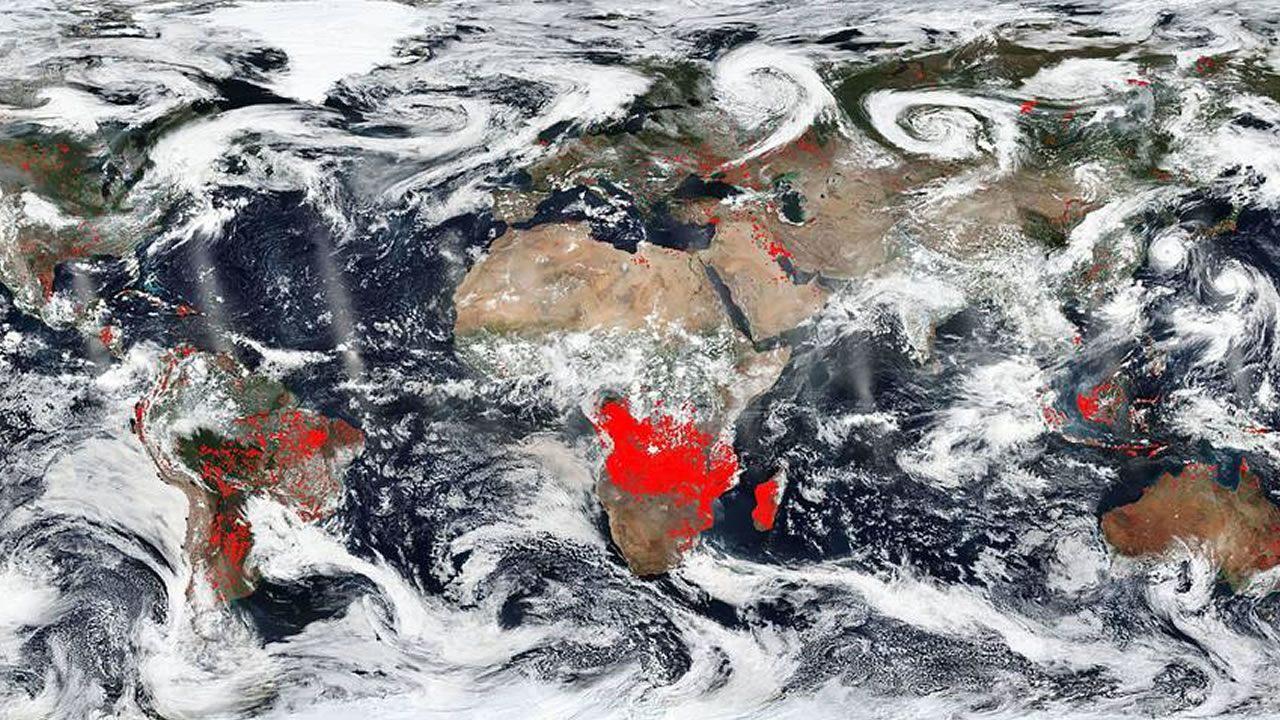 Esta imagen de la NASA revela cuánto del mundo está en llamas ahora