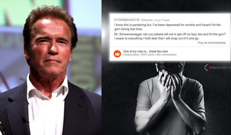 Esta es la estupenda respuesta de Arnold a un fan que sufre depresión