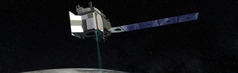 Representación artística del satélite ICESat-2