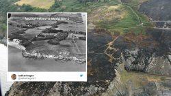 Incendio forestal en Irlanda revela un mensaje perdido del pasado