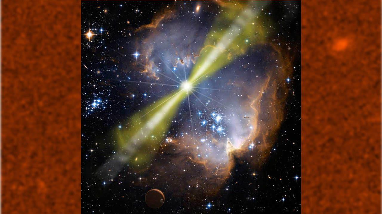 Ráfagas de rayos gamma podrían tener un extraño efecto reversible en el tiempo