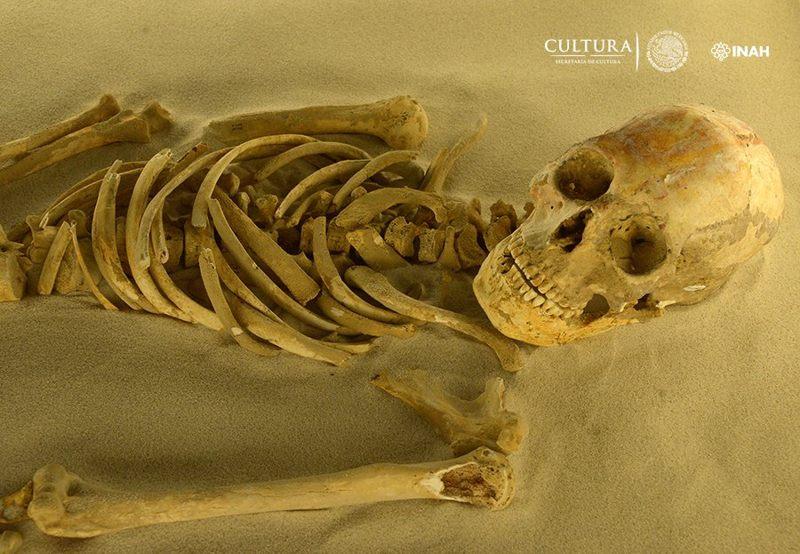 Uno de los restos mayas hallados