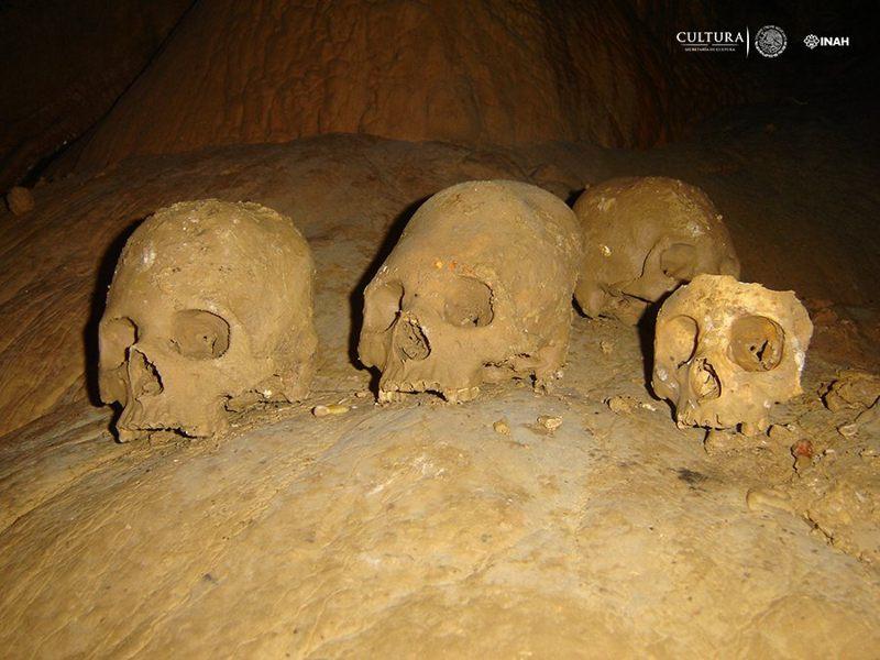Conjunto de restos mayas hallados. Poseen miles de años de antigüedad