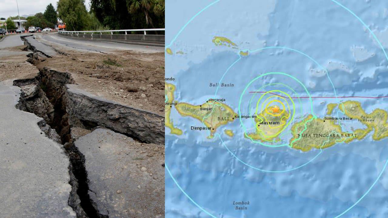 Terremoto de 6.9 grados en Indonesia deja 98 muertos y decenas de heridos