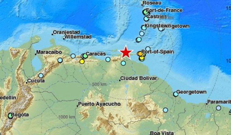 Terremoto de magnitud 7.3 sacude el norte de Venezuela