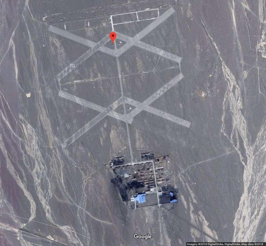 Una de las estructuras abandonadas en el desierto de Gobi