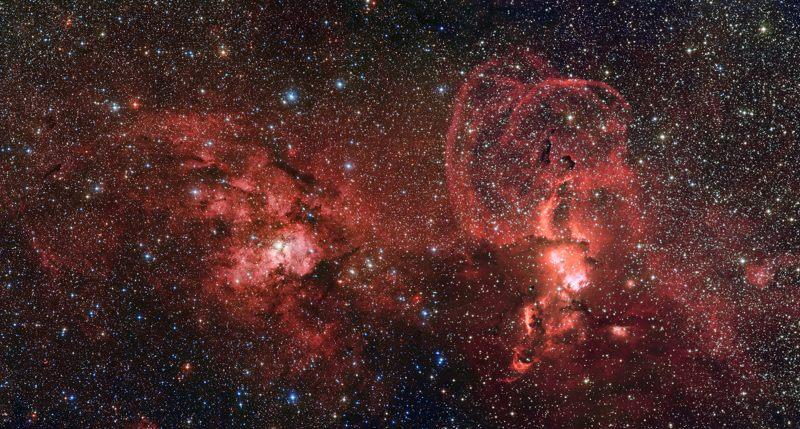 Formación de estrellas en el sur de la Vía Láctea