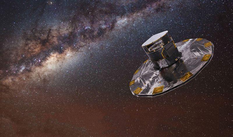 Representación artística de la nave espacial Gaia.