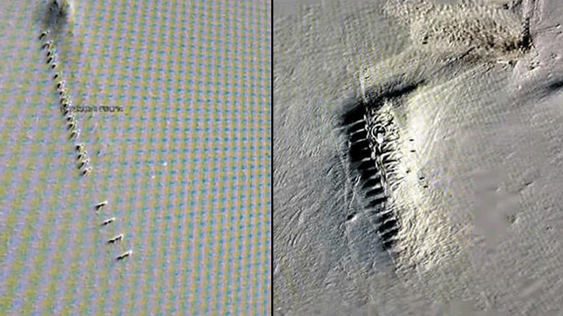 22 misteriosas estructuras surgen del hielo derretido en la Antártida