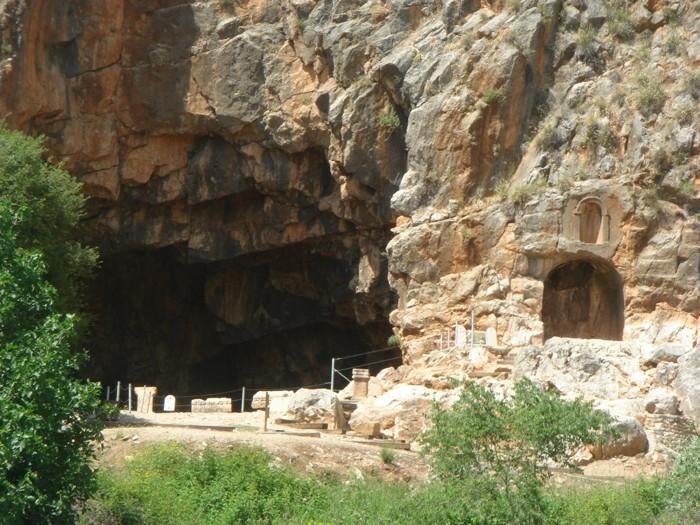 Cueva de Pan, en Banias