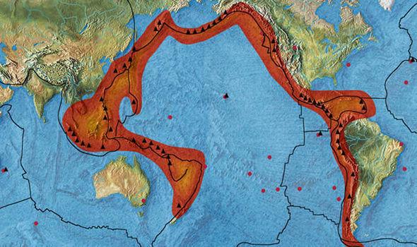 El Cinturón de Fuego es una «característica geológica enorme», dijo el Ben van der Pluijm