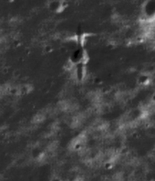 La imagen muestra el lugar de impacto del orbitador SMART-1 en la superficie lunar