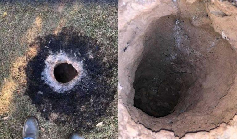 Aparece un misterioso agujero en llamas en Arkansas